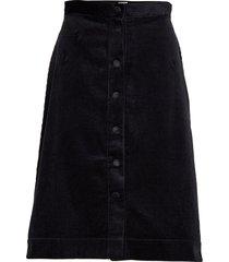 pia cord skirt knälång kjol svart twist & tango