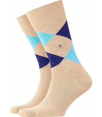 burlington king socks - sand/blue - 21020-4391