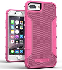 iphone 8 plus tough case w/ built in screen protector, american armor(heavy duty