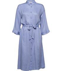 bea print dress jurk knielengte blauw modström