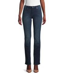 7 for all mankind women's straight-fit jeans - blue black - size 23 (00)