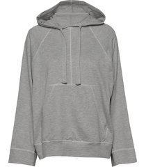 louisiana micro terry hoodie trui grijs arnie says