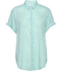 ameliacr shirt kortärmad skjorta blå cream