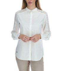 blusa manga larga mujer clara blanco rockford
