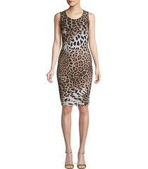 leopard-print bodycon dress