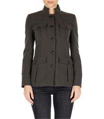 blazer nenette giacca militare doppio crepe
