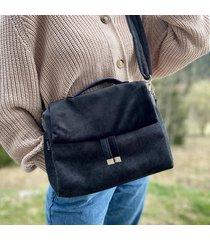 torebka damska kuferek czarna