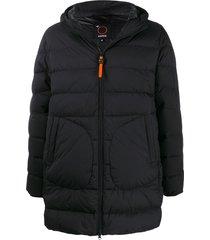 aspesi hooded padded coat - black