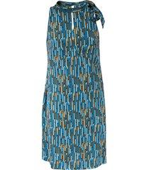 aspesi tie detail sleeveless dress