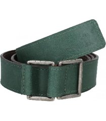 cinturón cuero liso sin perforaciones verde panama jack