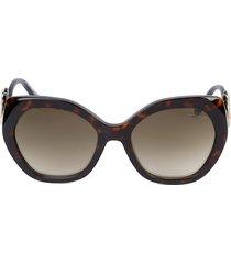 roberto cavalli women's 57mm cat eye sunglasses - dark havana
