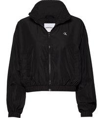 back logo windbreaker zomerjas dunne jas zwart calvin klein jeans