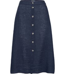 nathalie linen skirt knälång kjol blå morris lady