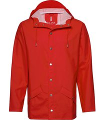long jacket regenkleding rood rains