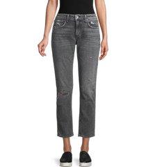 rag & bone women's dre low-rise slim boyfriend jeans - black - size 24 (0)