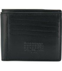 maison margiela reversible bi-fold wallet - black