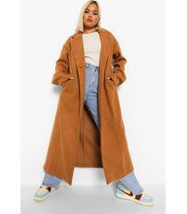 petite lange nepwollen jas, camel