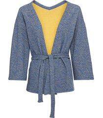 reliëf-jacquard-jasje in kimono-stijl, jeansblauw 34