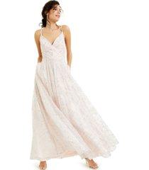 crystal doll juniors' glitter-pattern ball gown