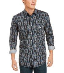 wrangler men's checotah regular-fit geo-print western shirt