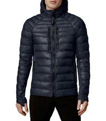 men's canada goose hybridge lite 800 fill power hooded jacket, size xx-large - blue
