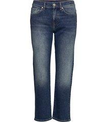 d1. cropped boyfriend jeans boyfriend jeans blå gant