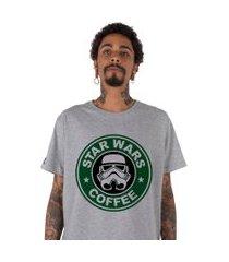 camiseta stoned star wars coffee cinza