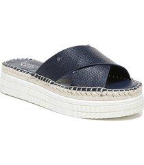 women's franco sarto barb platform slide sandal, size 7.5 m - blue