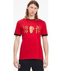 ac milan 120-jarig bestaan t-shirt voor heren, rood/goud, maat l | puma