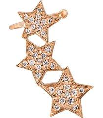 alinka 'stasia' diamond triple star ear cuff - metallic