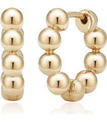 dana rebecca designs 14kt yellow gold poppy rae pebble huggie earrings