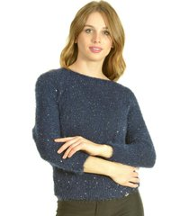 sweater brillo azul bou's