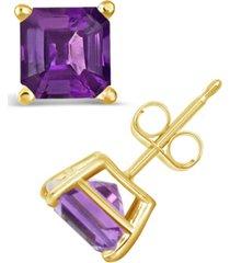 amethyst (1-9/10 ct. t.w.) stud earrings in 14k yellow gold
