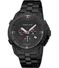 roberto cavalli by franck muller men's swiss quartz black stainless steel bracelet watch 45mm