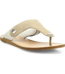 luna suede & leather thong sandals