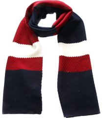 tommy hilfiger 3 colors textile striped scarf