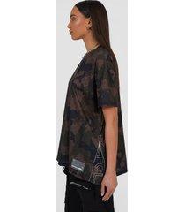 oversized camo utility t-shirt, dark grey