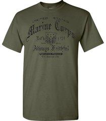 u.s. marine corps est.1775 always faithful semper fidelis men's tee shirt 1154
