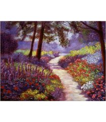 "david lloyd glover lakeside garden canvas art - 37"" x 49"""