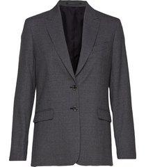 sonia wool crepe blazer blazer colbert grijs filippa k