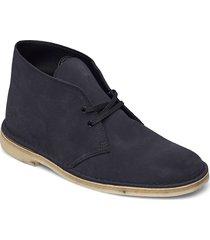 desert boot desert boots snörskor blå clarks originals