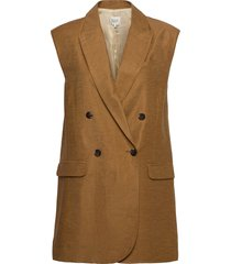 lia waistcoat vests knitted vests brun second female