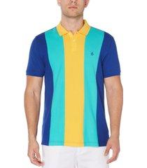 original penguin men's colorblocked pique polo shirt