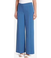 tahari asl top-stitched wide-leg pants