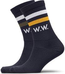 gail 2-pack socks underwear socks regular socks blå wood wood