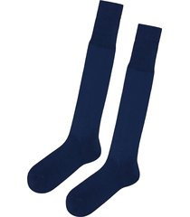 calzedonia - tall egyptian cotton socks, 42-43, blue, men