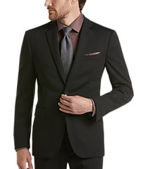 awearness kenneth cole awear-tech black extreme slim fit suit