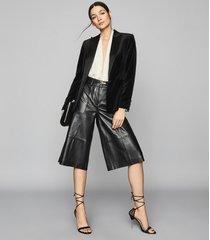reiss rosalba - long sleeved plunge bodysuit in ivory, womens, size l