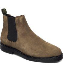 portland stövletter chelsea boot grön playboy footwear