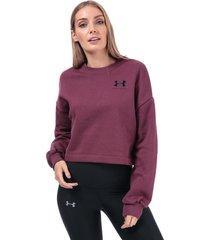womens rival fleece graphic crew sweatshirt